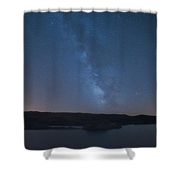 Shower Curtain featuring the photograph Milky Lagoon by Bruno Rosa