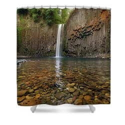Milky Reflection Shower Curtain by David Gn
