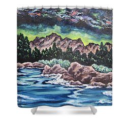 Milky Way 2 Shower Curtain by Cheryl Pettigrew