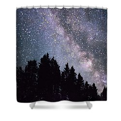Milky Way Above The Bighorns Shower Curtain