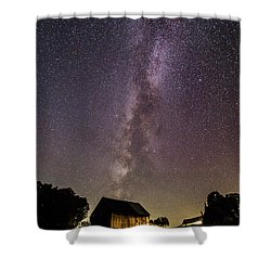 Milky Way And Barn Shower Curtain