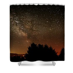 Milky Way And Falling Star Shower Curtain