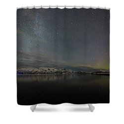 Milky Way And Northern Lights Shower Curtain