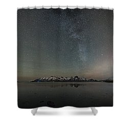 Milky Way And Northern Lights I Shower Curtain