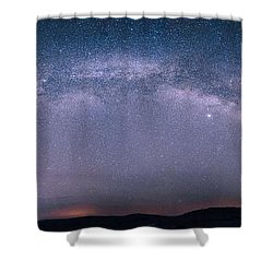 Milky Way Arch Over The Badlands Shower Curtain
