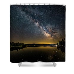 Milky Way At Hunter Cover Shower Curtain