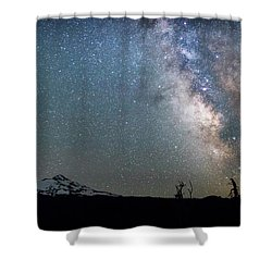 Shower Curtain featuring the photograph Milky Way At Mckenzie Pass by Cat Connor