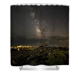 Milky Way At Pemaquid 2 Shower Curtain