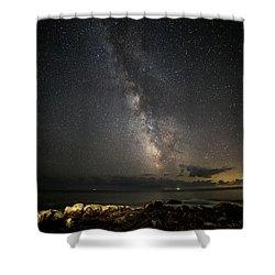 Milky Way At Pemaquid Shower Curtain