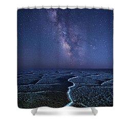 Milky Way At The Salt Flats Shower Curtain