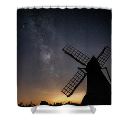 Milky Way At Wicken Shower Curtain