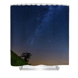 Shower Curtain featuring the photograph Milky Way by Davor Zerjav