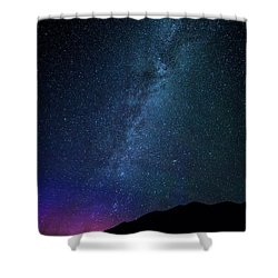 Milky Way Galaxy After Sunset Shower Curtain by Dan Pearce