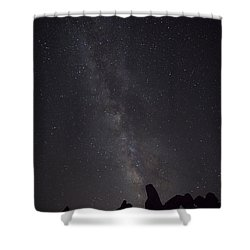 Milky Way Galaxy At Arches National Park Shower Curtain
