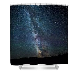 Milky Way Galaxy Shower Curtain by Dan Pearce