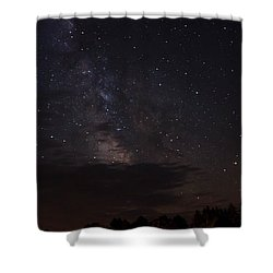 Shower Curtain featuring the photograph Milky Way by Gary Wightman