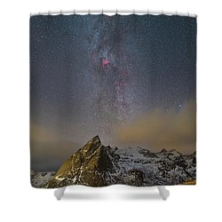 Milky Way In Lofoten Shower Curtain