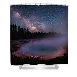 Milky Way In Yellowstone Shower Curtain