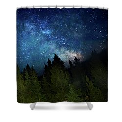 Milky Way On The Mountain Shower Curtain