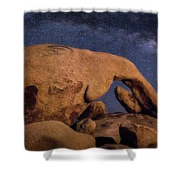 Milky Way Over Arch Rock Shower Curtain