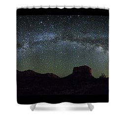 Milky Way Over Bell Shower Curtain