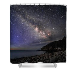 Milky Way Over Boulder Beach Shower Curtain