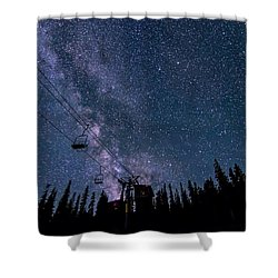 Milky Way Over Chairlift Shower Curtain