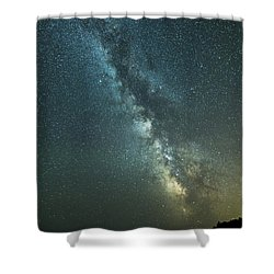 Milky Way Over Clams Flats Shower Curtain