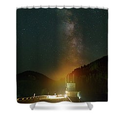 Milky Way Over Detroit Dam Shower Curtain