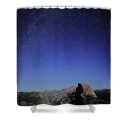 Milky Way Over Half Dome Shower Curtain by Rick Berk