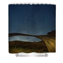Milky Way Over Landscape Arch Shower Curtain