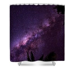 Milky Way Over Mission Beach Shower Curtain