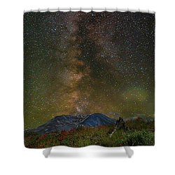 Milky Way Over Mount St Helens Shower Curtain