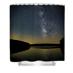 Milky Way Over Price Lake Shower Curtain
