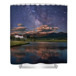 Milky Way Over The Omni Mount Washington Shower Curtain
