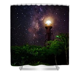 Milky Way Over The Sanibel Lighthouse Shower Curtain