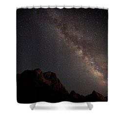 Milky Way Over Zion Shower Curtain