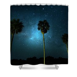 Milky Way Planet Shower Curtain by Mark Andrew Thomas