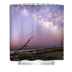 Milky Way Roots Shower Curtain by Robert Loe