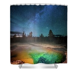 Shower Curtain featuring the photograph Milky Way Thermal Pool by Darren White