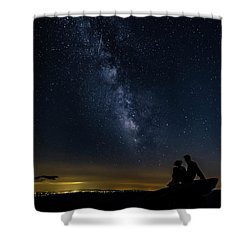 Milky Way Viewed From Rough Ridge Shower Curtain