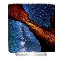 Milkyway At Arches Shower Curtain
