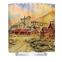 Mill Bodie Ghost Town California Shower Curtain by Kevin Heaney
