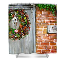 Mill Cottage Shower Curtain by Patrice Torrillo