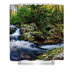 Mill Creek In Fall #4 Shower Curtain