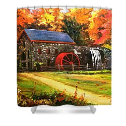 Mill House Shower Curtain by Rose Wang