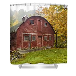 Shower Curtain featuring the photograph Mill In Autumn by Tom Singleton