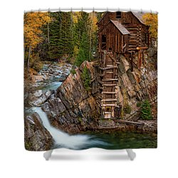 Mill In The Mountains Shower Curtain