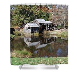 Mill Reflections Shower Curtain by Eric Liller