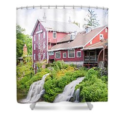 Mill Water Falls Hdr Shower Curtain